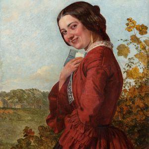 HENRY HETHERINGTON EMMERSON OIL PAINTING FEMALE LOVE