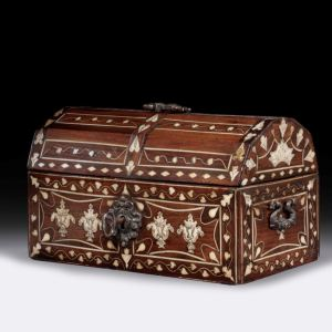 ANTIQUE INDO PORTUGUESE DOMED CASKET