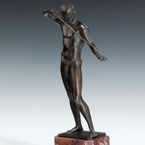 LUDWIG EISENBERGER ART DECO BRONZE FENCER