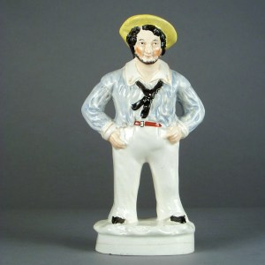 ANTIQUE STAFFORDSHIRE FIGURE OF A JOLLY SAILOR