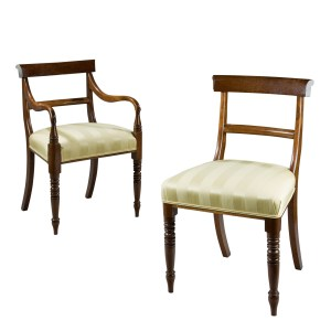 SET OF EIGHT ANTIQUE GEORGE III MAHOGANY DINING CHAIRS