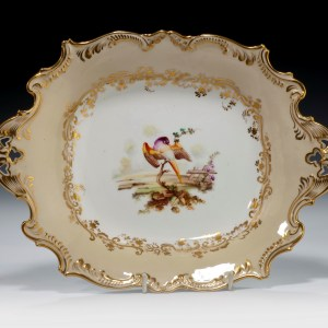 ANTIQUE COALPORT PORCELAIN DISH ATTRIBUTED TO RANDELL