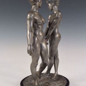 RONALD CAMERON BRONZE FEMALE NUDES TWINS