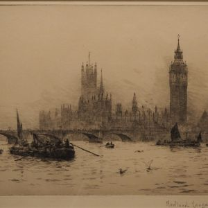 ROWLAND LANGMAID ETCHING WESTMINSTER