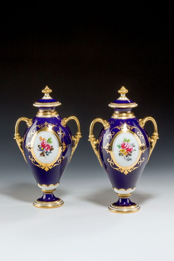 Royal-Crown-Derby-vases-pair-flowers-AF-Wood-antique-5249_1_5249