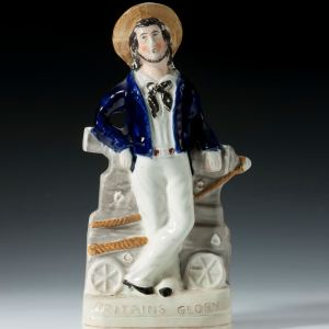 ANTIQUE STAFFORDSHIRE FIGURE BRITAINS GLORY