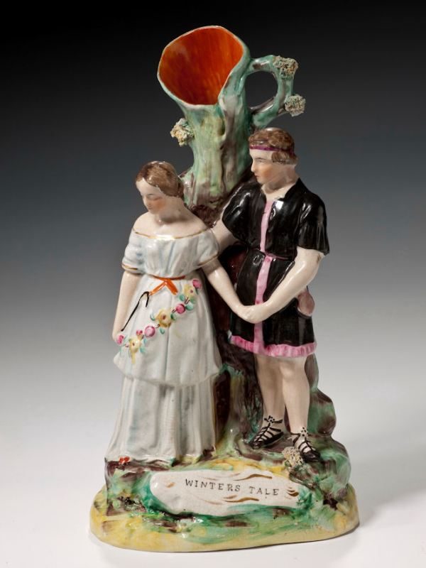ANTIQUE STAFFORDSHIRE FIGURE OF WINTERS TALE