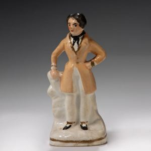 ANTIQUE STAFFORDSHIRE FIGURE ACTOR OR POLITICIAN