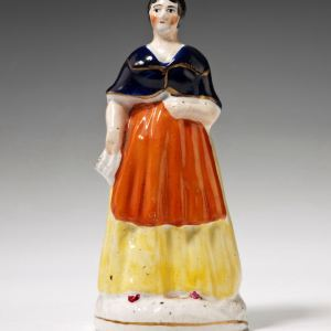 ANTIQUE STAFFORDSHIRE FIGURE OF EMILY SANDFORD