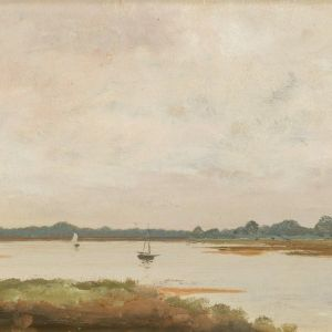 STEPHEN WILLIAM BUCHANAN COLERIDGE-OIL PAINTING-BOSHAM SUSSEX