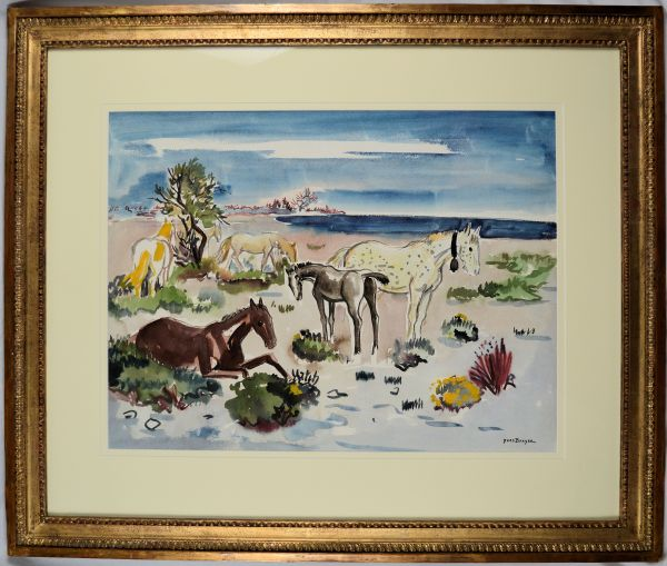 Yves-Brayer-watercolour-painting-Camargue-horses-DSC_0342_5954