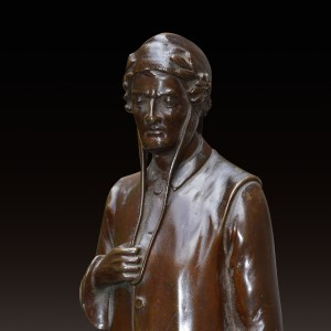 TITO ANGELINI-BRONZE FIGURE OF DANTE