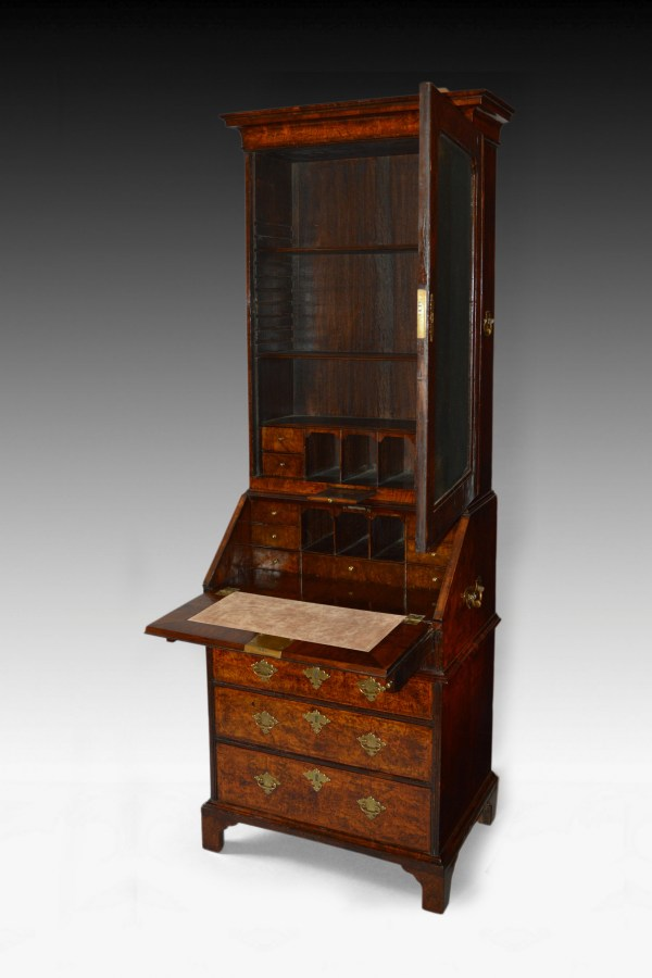 antique-burr-walnut-bureau-bookcase-Queen-Anne-small-size-4_6249