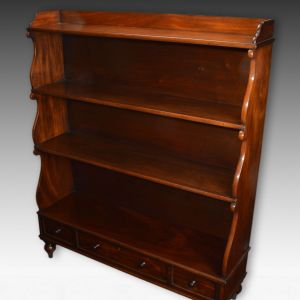 ANTIQUE WILLIAM IV MAHOGANY WATERFALL BOOKCASE