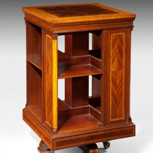 ANTIQUE 19TH CENTURY REVOLVING BOOKCASE
