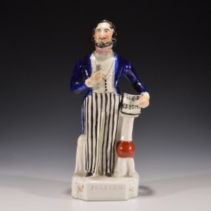 ANTIQUE STAFFORDSHIRE FIGURE OF JULIEN