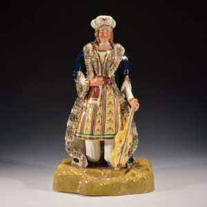 ANTIQUE STAFFORDSHIRE FIGURE OF MANDANE
