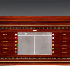 ANTIQUE MAHOGANY SCORING BOARD FOR BILLIARDS SNOOKER & LIFE POOL