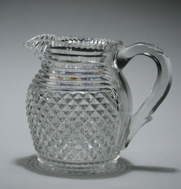 ANTIQUE CUT GLASS WATER JUG