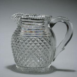 ANTIQUE CUT GLASS WATER JUG