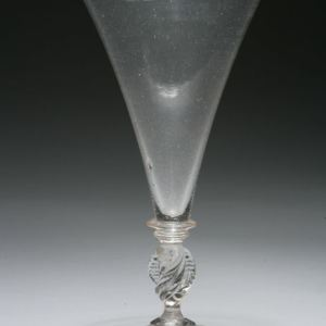 ANTIQUE 18TH CENTURY FACON DE VENISE SODA GLASS GOBLET