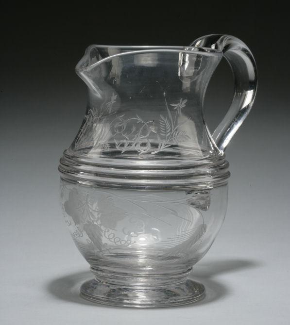 ANTIQUE GLASS HARVEST JUG