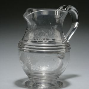 ANTIQUE GLASS HARVEST JUG