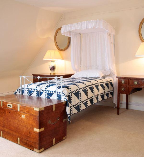 ANTIQUE 19th CENTURY HALF TESTER BED