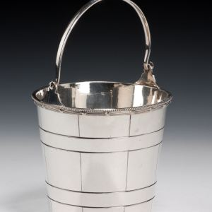 ANTIQUE SILVER PLATED ICE BUCKET