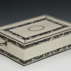 ANTIQUE INDIAN IVORY BOX PROBABLY VIZAGAPATAM