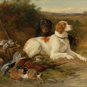JAMES HARDY JNR-OIL PAINTING-HUNTING DOGS
