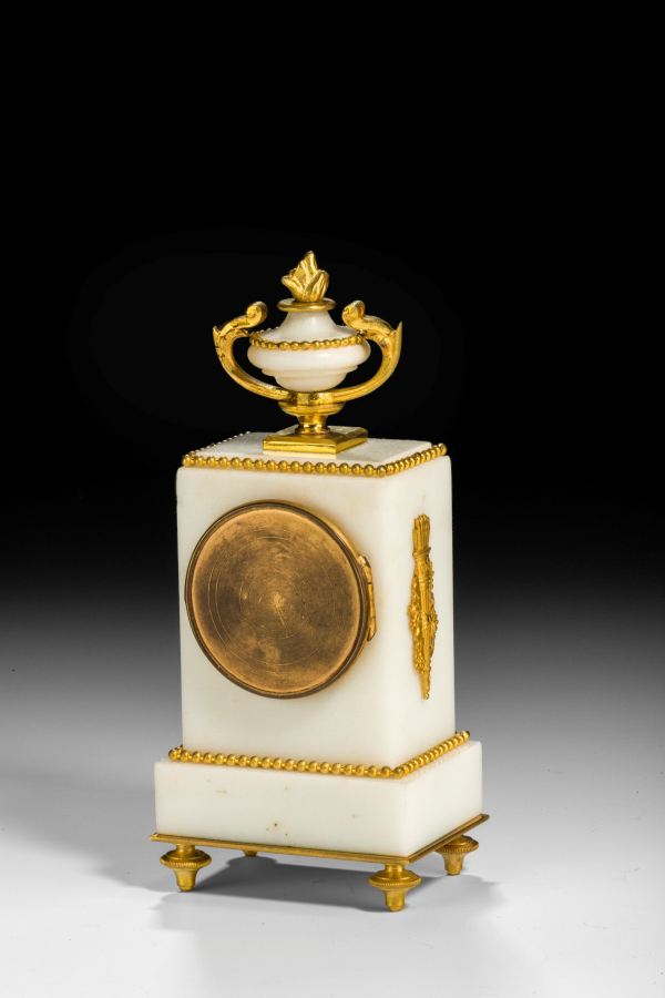 mantel-clock-miniature-French-white-marble-gilt-bronze-mounts-antique-4905_1_4905