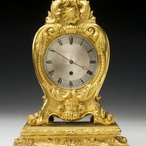 ANTIQUE ORMOLU MANTEL CLOCK BY VULLIAMY