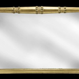 ANTIQUE REGENCY GILT FRAMED OVERMANTLE MIRROR