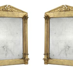 FINE ANTIQUE PAIR OF GILT FRAMED REGENCY PIER MIRRORS