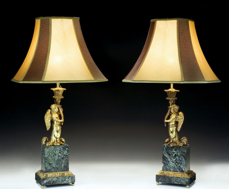 Antique pair of french marble gilt bronze table lamps richard antique pair of french marble gilt bronze table lamps aloadofball Images