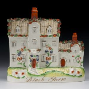 ANTIQUE STAFFORDSHIRE FIGURE OF POTASH FARM