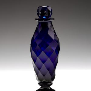 ANTIQUE BLUE GLASS SCENT BOTTLE