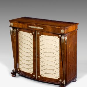 ANTIQUE REGENCY ROSEWOOD SIDE CABINET OF SMALL SIZE