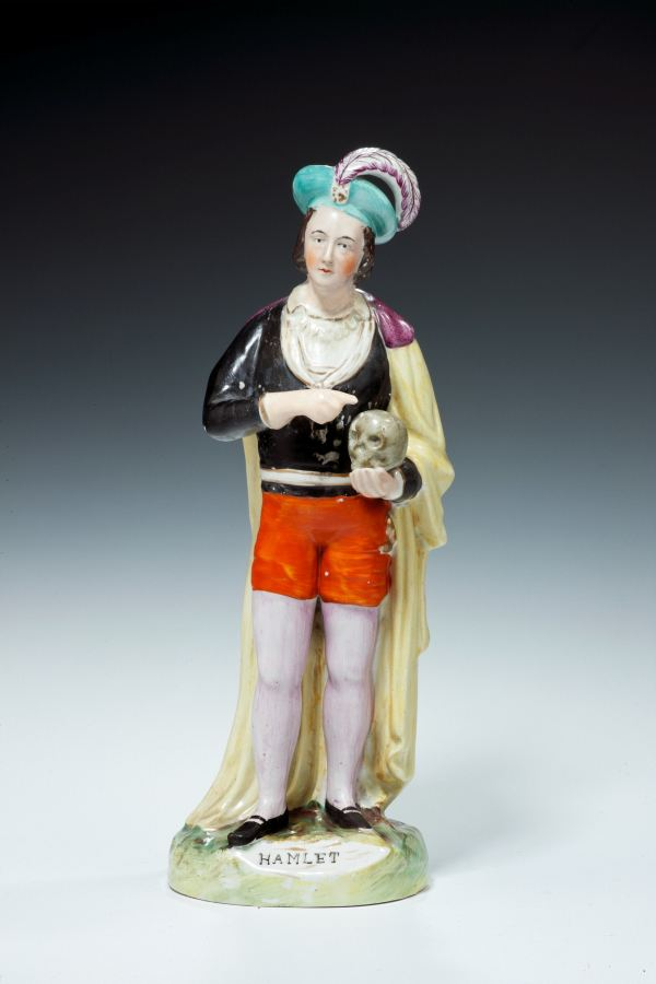 ANTIQUE STAFFORDSHIRE FIGURE OF HAMLET