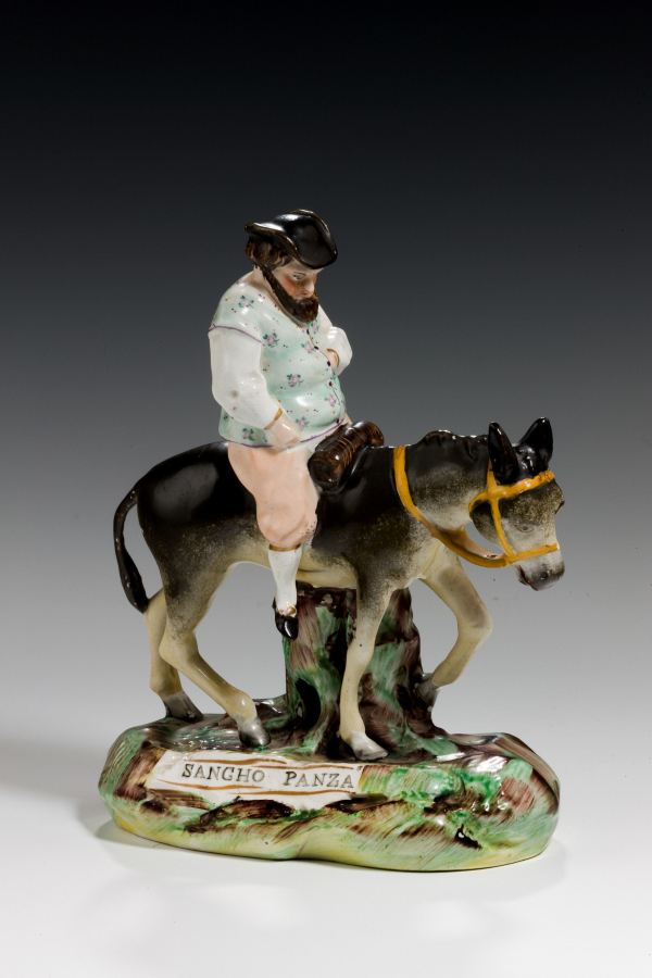 ANTIQUE STAFFORDSHIRE FIGURE OF SANCHO PANZA