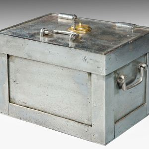 ANTIQUE STEEL STRONGBOX