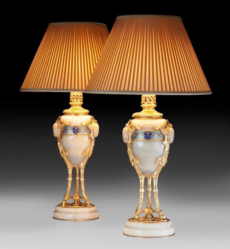 Pair of french table lamps richard gardner antiques pair of french table lamps mozeypictures Images