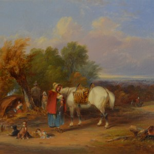 WILLIAM SHAYER-OIL PAINTING-GYPSY CAMP