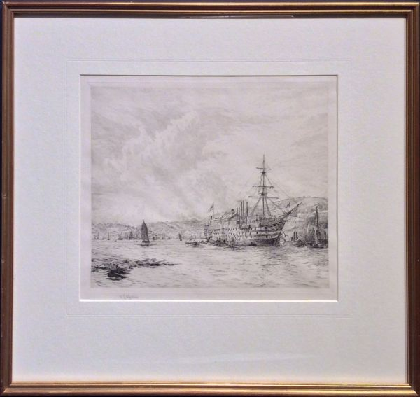 william-wyllie-etching-HMS-britannia-dartmouth-5592_1_5592
