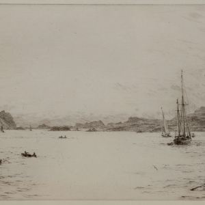 WILLIAM LIONEL WYLLIE - ETCHING - THE WESTERN ISLES