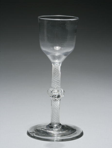 ANTIQUE TWIST STEM WINE GLASS