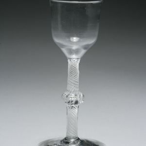 ANTIQUE TWIST STEM WINE GLASS