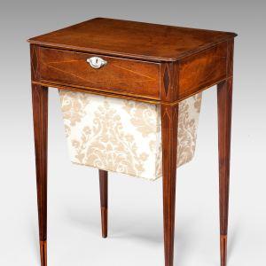 ANTIQUE GEORGE III MAHOGANY WORK TABLE
