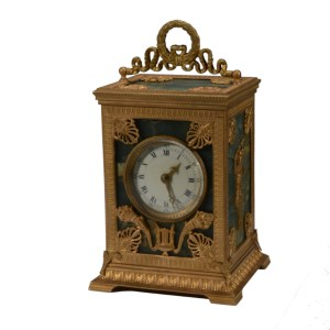 FINE QUALITY FRENCH NAPOLEON III ORMOLU CARRIAGE CLOCK
